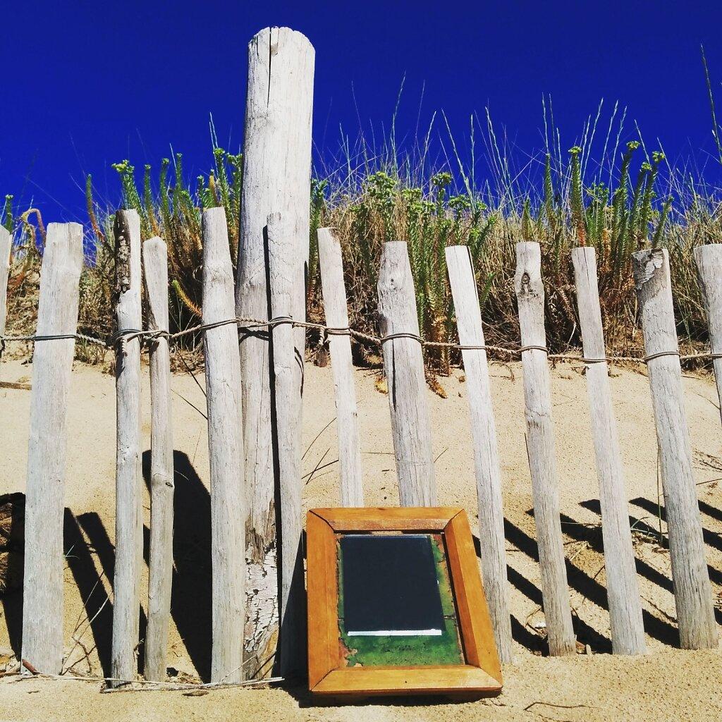Developement de #Cyanotype a la plage.