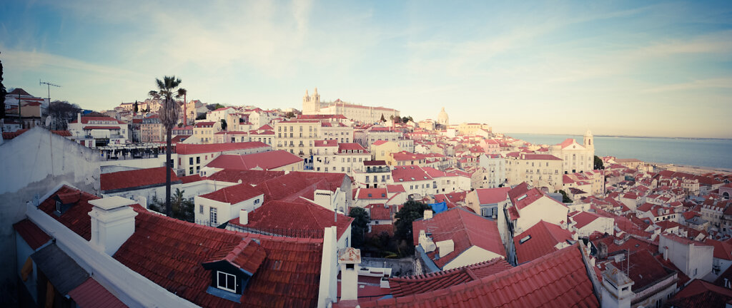 Sur l'une des collines de Lisbonne