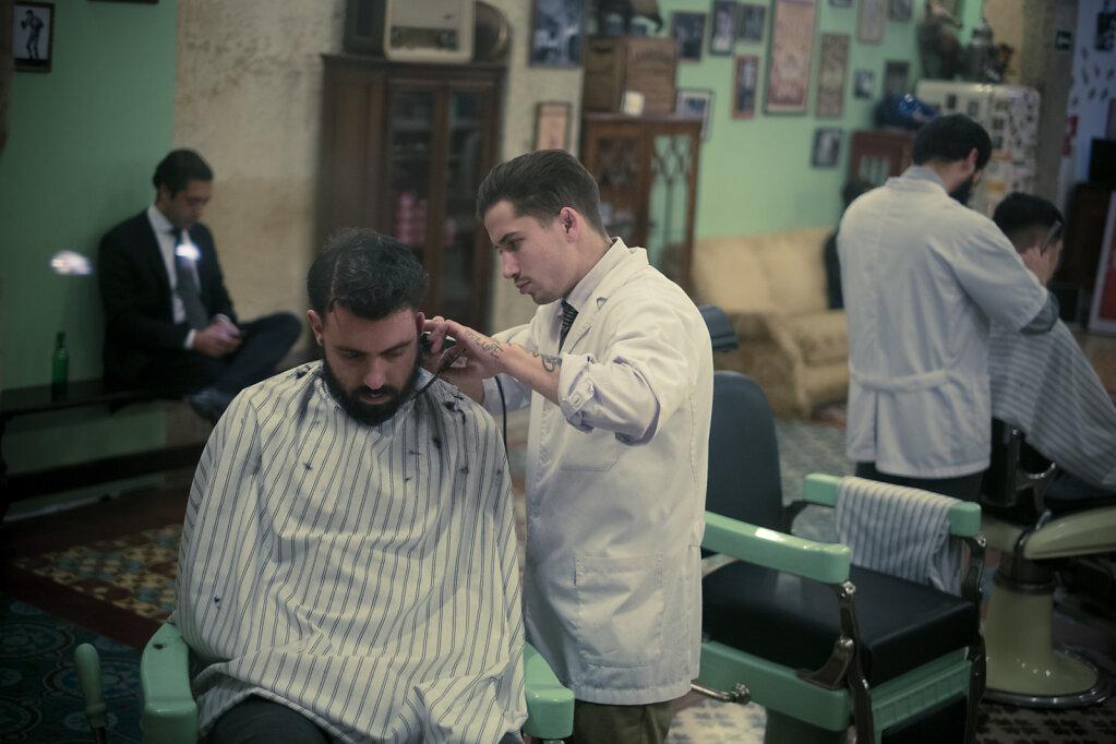 Chez le barbier les hipsters sont rois.