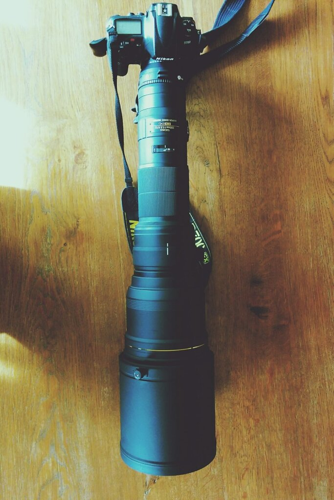 mine is bigger than yours #cameraporn #800mm #Nikon D700