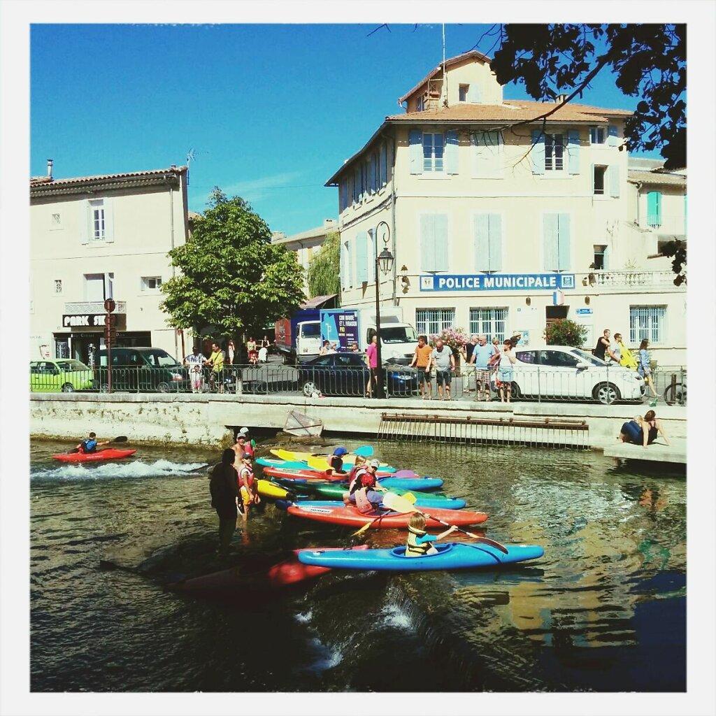 Polisse Municipale et canoes #vacances