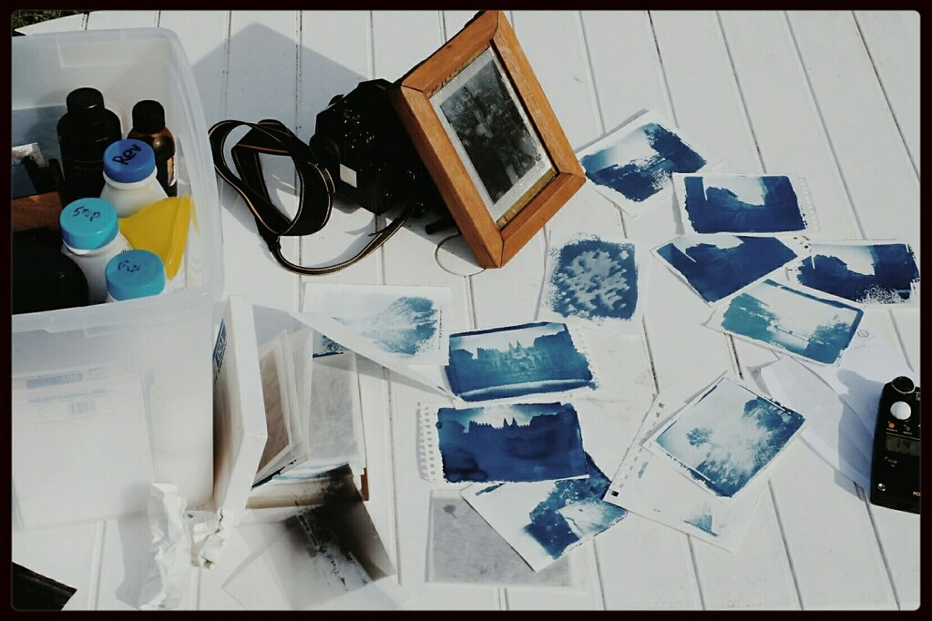 More #Cyanotype tries. #yaencoreduboulot