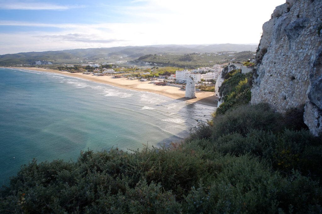 view from the old town of Vieste #sea #Cliffs