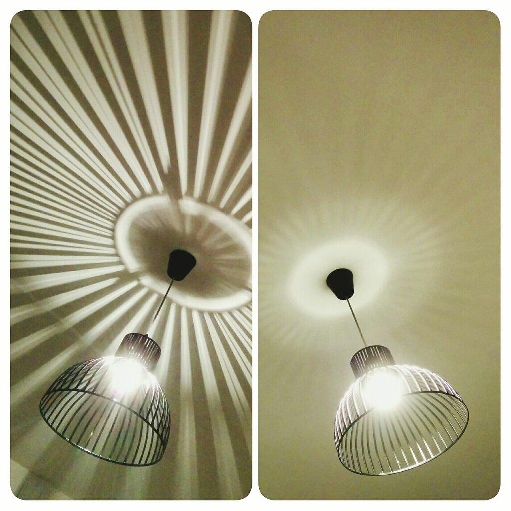 Meme lustre, deux ampoules differentes => deux ambiances.