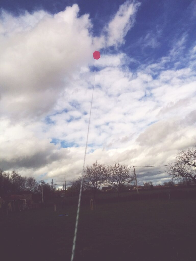 First flight of my #rokakku . #kap soon ! (kite aerial photography)