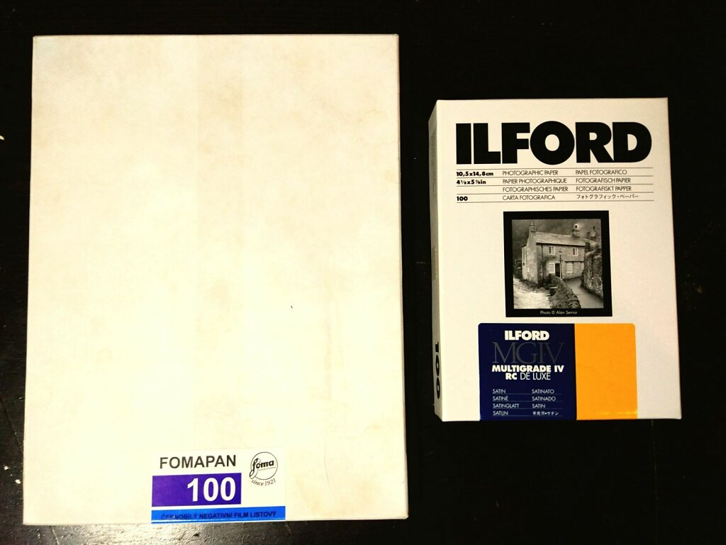 10x15 ilford paper Vs 18x24cm foma negative #largeformat