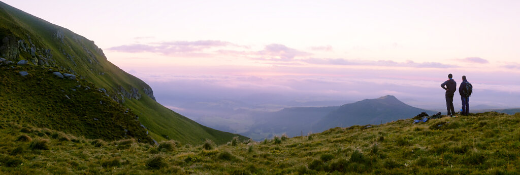7h03 au dessus de la vallée de Chaudefour.