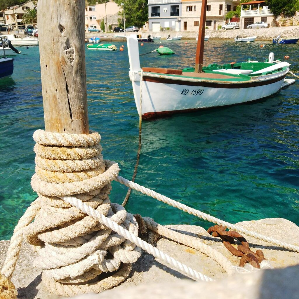 ropes #bateau #Méditerranée #Croatia